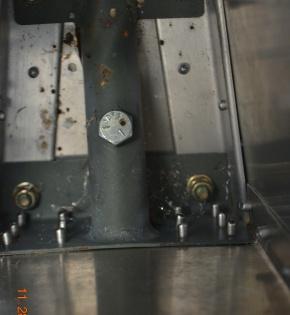 Tail wheel spring mount