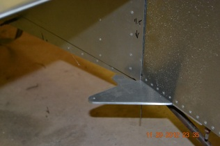 Rudder control arm - left view zoomed
