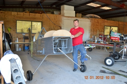 Right side view of the forward fuselage formers - giving the Panther some more dimension