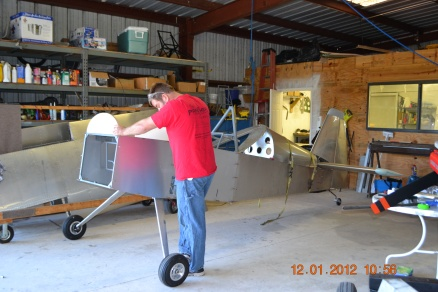 Right side view of the forward fuselage formers