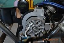 Rear Alternator Bracket and Alternator - top view