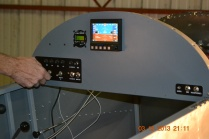 Here you can see the MGL EFIS unit and the X-COMM 720 radio unit
