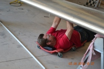 Here you can see Dan adjusting the ailerons