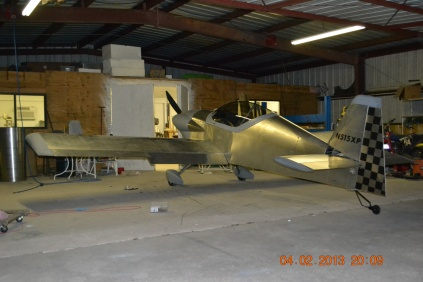 Time for the Panther to get tucked into the hangar for tonight. Good night pretty girl!