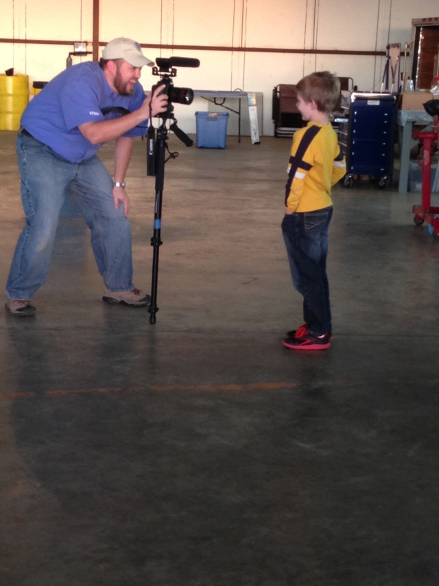 Brady Lane interviewing Luke