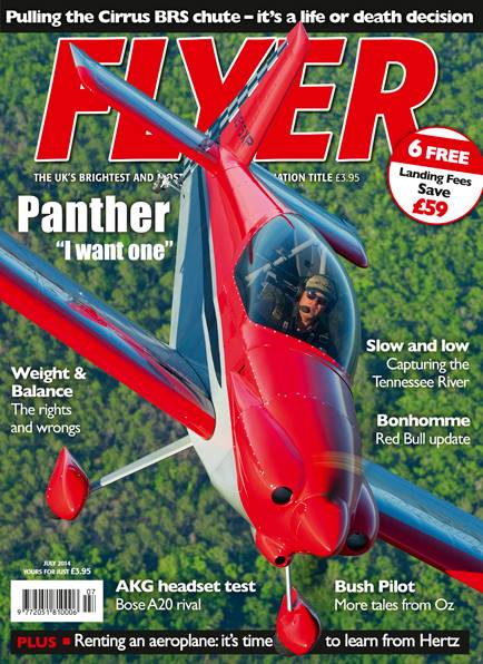 Cover of FLYER magazine-  July 2014